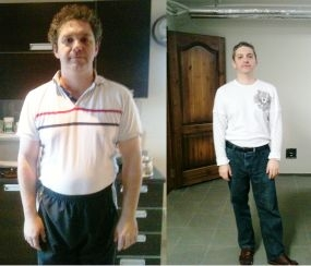 אלכס שטרן - דיאטת HCG לפני ואחרי